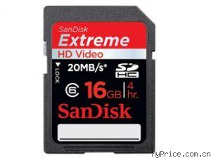 Extreme HD Video SDHC (16G)