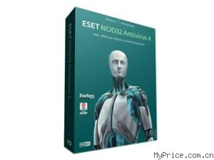 ESET NOD32 EAV防病毒软件 企业版 4.0 (500-749用户/每用户/1年)
